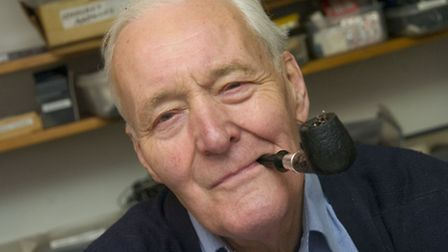 Tony Benn at home in Holland Park in 2008. Picture: Nigel Sutton