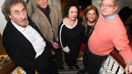 From left to right: Howard Jacobson, Prof Robert Wistrich, Trudy Gold, Louise Jacobs and Dominic Law