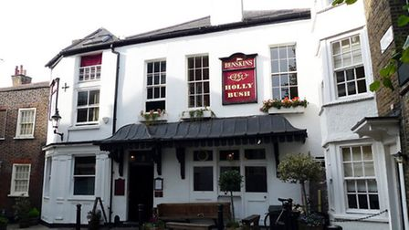 Police were called to the Holly Bush pub in Hampstead after a large group of drinkers refused to lea