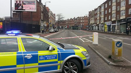 Police have cordoned off the area around the JW3 Jewish community centre in Finchley Road after repo