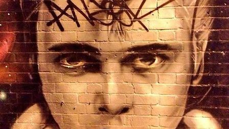 The mural of Billy Fury was the victim of amateur taggers. Picture: Keith Moffitt