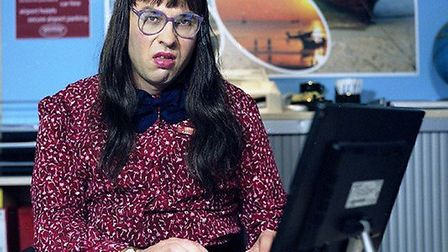 David Walliams as Carol Beer in the famous 'Computer Says No' sketch. Picture: BBC/Mike Hogan