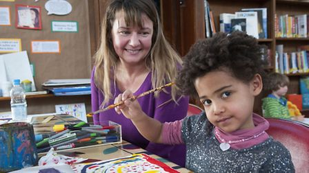 Michelle West and her daughter Mae, 4. Picture: Nigel Sutton.