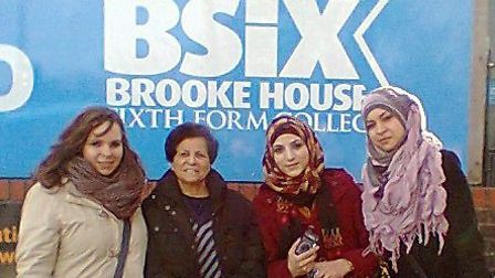 The group of women outside BSix