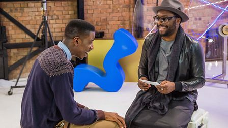 Jermain Jackman with rapper Will.i.am on The Voice, Photo BBC Wall To Wall, Guy Lev