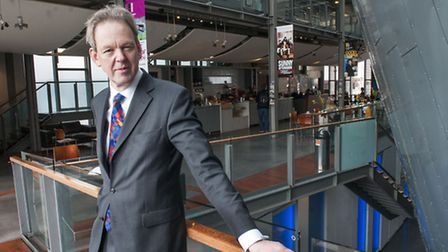 Executive producer Greg Ripley-Duggan in the foyer of Hampstead theatre which is due to be redevelop