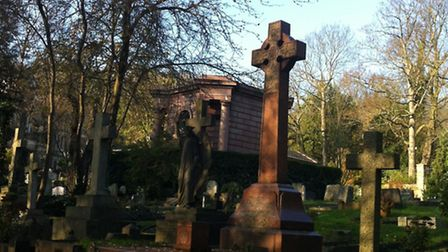 Abney Park Cemetery where the group did some of their historical research