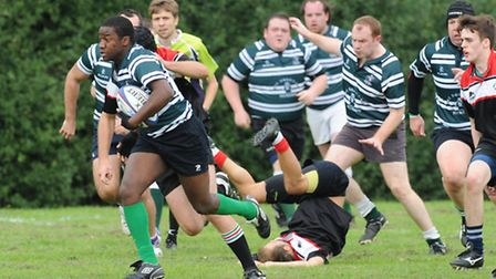 Toby Ikeweke (left) scored two tries against Chess Valley. Pic: Paolo Minoli