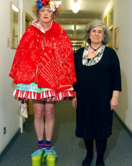 Grayson Perry and Valerie Sinason. Picture: Polly Hancock.
