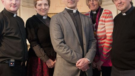 Camden Anglican priests who are supporting gay marriage (from left) Rev David Rushton, Rev Marjorie