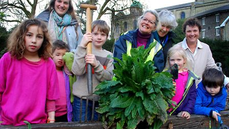 Transition Dartmouth Park and members of Brookfield School Gardening Club's Big Dig in the kitchen g