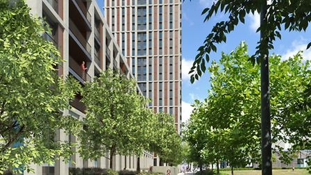 Artist's impression of what the building in Avenue Road will look like
