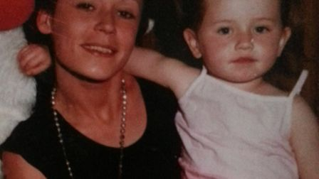 Missing Lana Purcell with her daughter