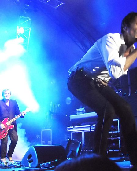 Suede perform at Live by the Lake iat last year's picnic concerts. Picture: Dieter Perry