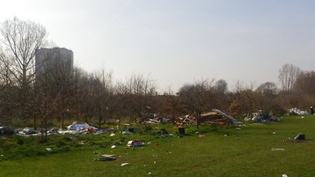 The mess on the Marshes, which cost over £5,000 to clear up.