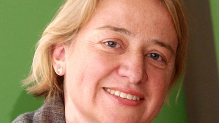 Natalie Bennett in central London after she was elected leader of the Green Party.