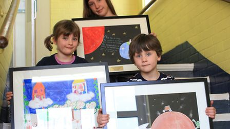 Theda Peirce, left, Amelie Grice and Freddie Pashby are the winners of this year's 'Deborah Reade Ar