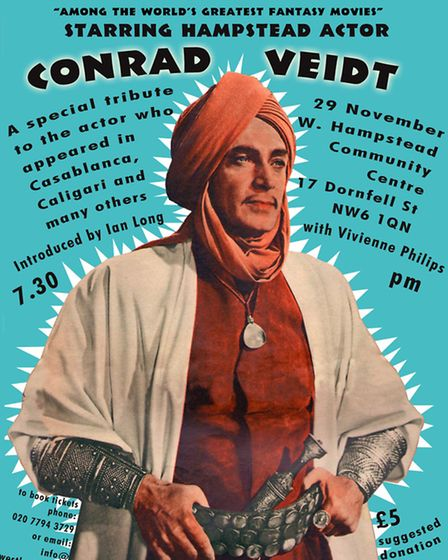 Conrad Veidt in a poster advertising The Thief of Bagdad
