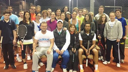 Temple Fortune Tennis Club held a night of competitions and games to celebrate the resurfacing of th