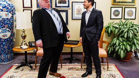 Rob Ford (left) with Giles Coren: Picture: Twitter/@GilesCoren