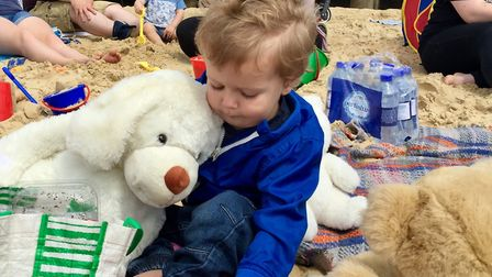 Jake White and his favourite cuddly toy at the FNP teddy bears' picnic. Picture: courtesy of ECCH