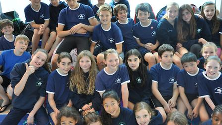 The squad from Camden Swiss Cottage Swimming Club