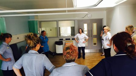 ECCH physiotherapists at a lunchtime exercise class. Picture: courtesy of ECCH