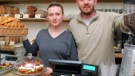 Owners Yulia Davidenko and Tom Burdon behind the counter at the newly opened Ripe Kitchen in Regents