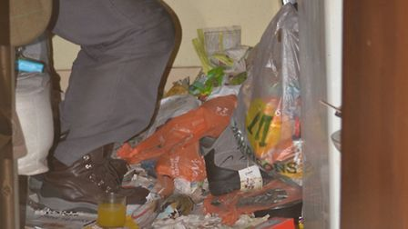 The room of one of the tenants seen by Camden Council's adul social care team during a visit to the