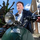 Alan McKeown, owner of ViTa of Hampstead, on a ViTa Electric scooter called The Milano. Picture: Pol