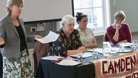 MEP candidate Lucy Anderson (Labour), chair of Camden Keep our NHS Public Candy Unwin, MEP candidate