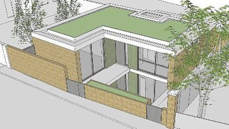 The artist's impression of what Cllr Aussenberg's garage conversion would look like.