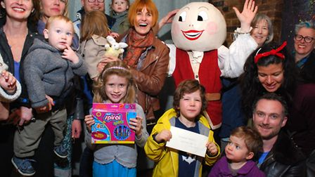 Mary Portas drew the raffle and presented prizes to winners of the Primrose Hill Easter Egg hunt on