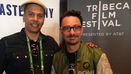 James Lucas and Mat Kirkby at the Tribeca Film Festival.