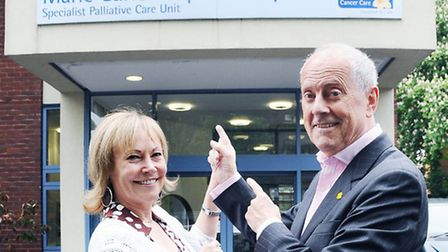 Gyles Brandreth and his wife Michele Brandreth. Picture: Dieter Perry.