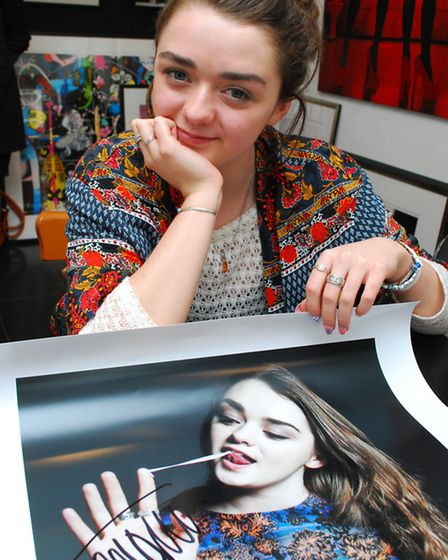 Maisie praised the young photographers who took pictures of her and other stars. Picture: Polly Hanc