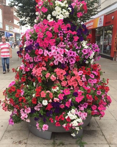 The floral displays organised by Lowestoft Vision. Picture: Lowestoft Vision.