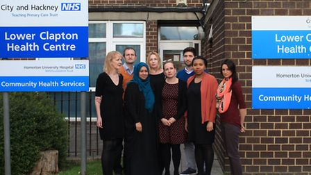 GPs at the Lower Clapton Group practice are concened funding cuts could close down the surgery.