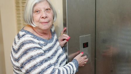Rosalyn Simons who was stuck in a lift for over two hours