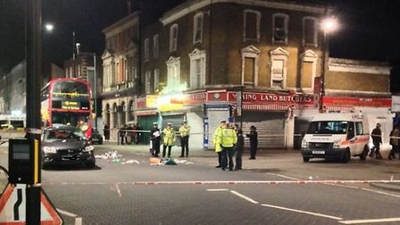 The scene of the accident in Ridley Road. Photo B. Just.