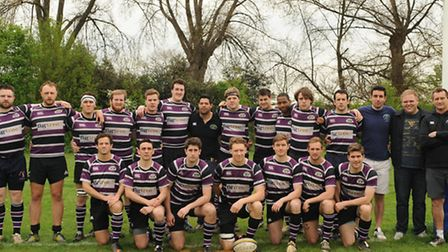 The Belsize Park first-team squad. Pic: Paolo Minoli