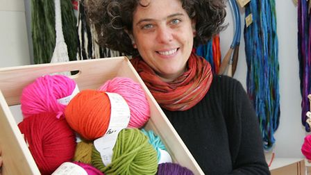 Anna Felman gave up techie job to set up wool shop in Lower CLapton Road,