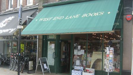 Independent book shop in West End Lane
