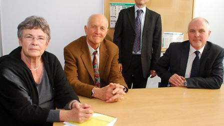 From left to right: Cllr Angela Mason, Dr John Clarke, Pete Dudley and Martin Pratt discuss the futu