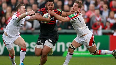 Saracens' Billy Vunipola in action against Ulster in the Heineken Cup