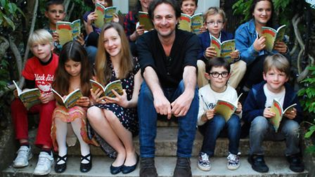 Winners of the Daunt Books Children's Short Story Competition 2014 on the steps of Burgh House with