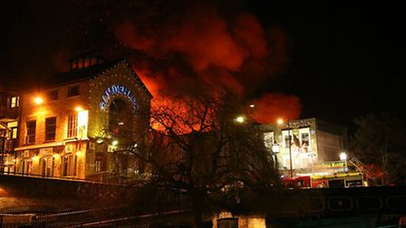 Fire engulfs the Canal Market during the blaze of 2008 - dubbed 'The Great fire of Camden'