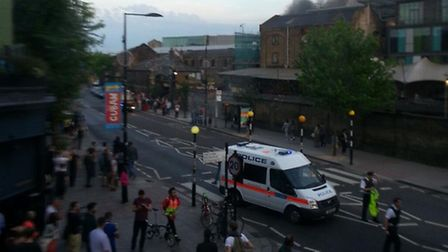 Emergency services on scene. Picture: Twitter @andreamitchell