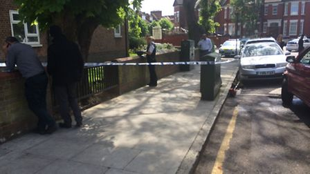 The area was taped off by police following the incident. Photo Betzalel Just.