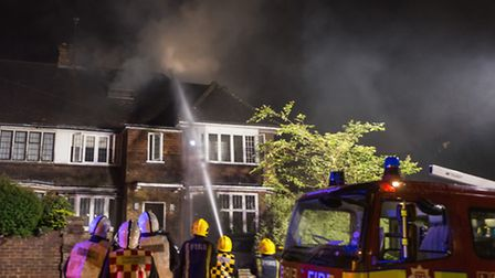 Nearly 60 firefighters were sent to the blaze in Pattison Road. Picture: Rod Olukoya (rodwey2004)